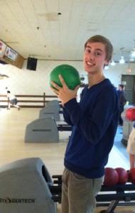 Blake Olson bowls strikes for new Edina Bowling Team