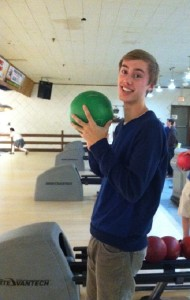 Blake Olson bowls strikes for new Edina Bowling Team