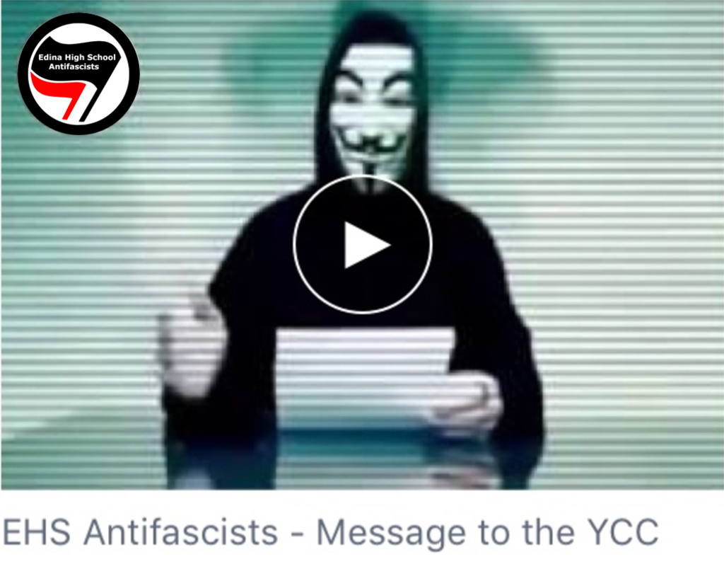 EHS Antifascists posted a video message to the Young Conservatives Club on Nov. 13.