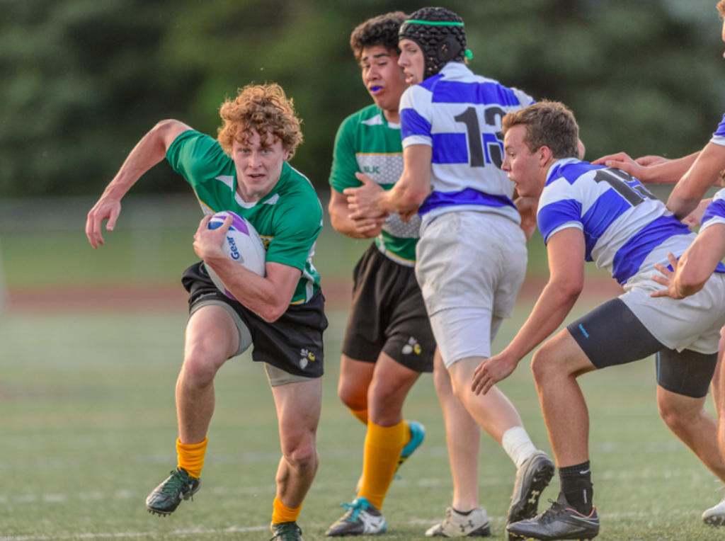 The Edina Rugby Team competes at the 2016 State Final.