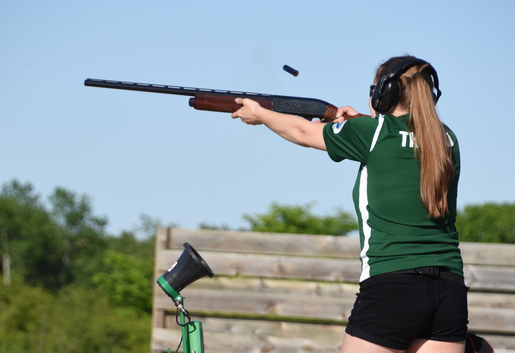 Senior Delainey Thorud understands the importance of gun safety, but believes trap & skeet has had a positive impact on her life.
